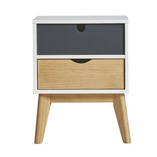 Paragamian 2 Drawer Bedside Table