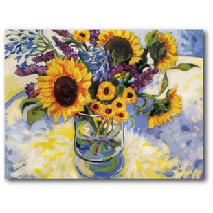 'Sunflowers' Painting Print on Wrapped Canvas