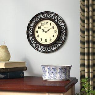 Large Black Wrought Iron Clock | Wayfair