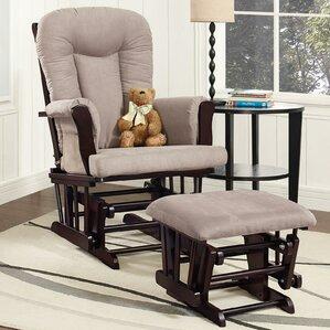 lucien glider and ottoman - Glider Rocker Chair