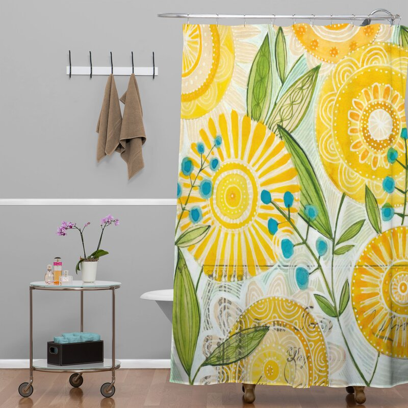 Deny Designs Cori Dantini Sun Burst Flowers Shower Curtain Reviews