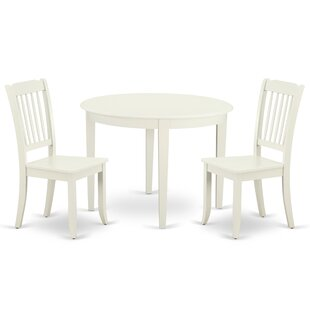 Kraatz 3 Piece Solid Wood Breakfast Nook Dining Set