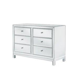 Mariaella 6 Drawers Standard Dresser