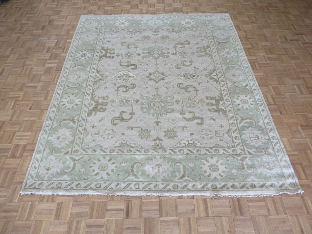 One Of A Kind Josephson Oushak Hand Knotted Rayon From Bamboo Silk