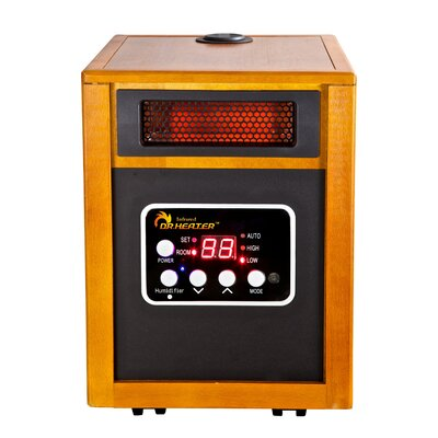 1,500 Watt Electric Infrared Cabinet Heater With Humidifier