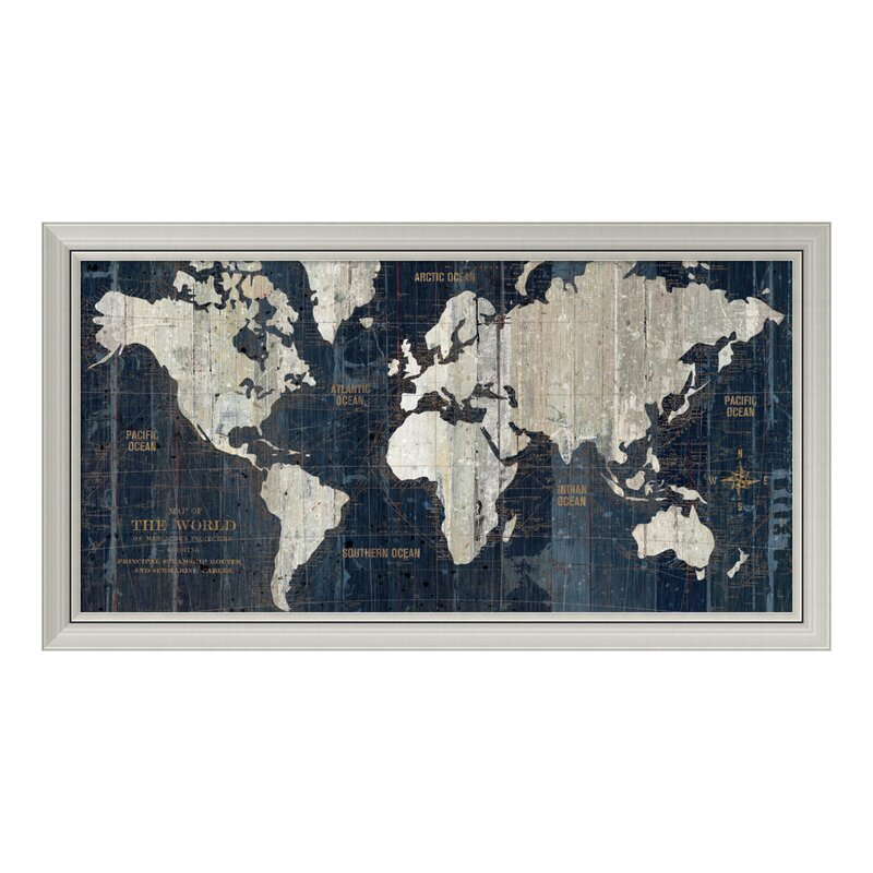 Old world map framed graphic art reviews joss main old world map framed graphic art gumiabroncs Images
