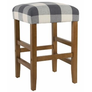 Roeder Square Wooden 24.5 Bar Stool
