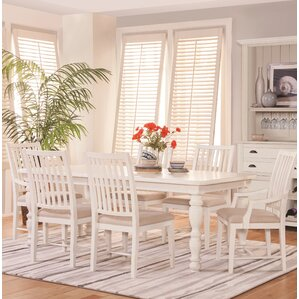 South Mountain Farmhouse Upholstered 7 Piece Extendable Dining Set by Panama Jack Home