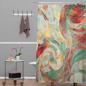 grey and orange shower curtain. Jacqueline Maldonado Rapt Shower Curtain Orange Curtains You ll Love  Wayfair
