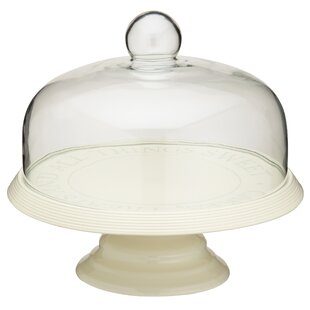 Classic Ceramic Cake Stand with Dome Lid  sc 1 st  Wayfair & Cake Plates \u0026 Stands | Wayfair.co.uk