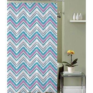 royal blue shower curtain. Royal Fabric Shower Curtain Chevron Curtains You ll Love  Wayfair