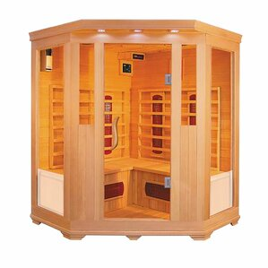 wood 4 person carbon far infrared and ceramic far infrared sauna - Infared Sauna