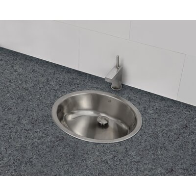 simply stainless oval undermount bathroom sink with overflow - Undermount Bathroom Sinks