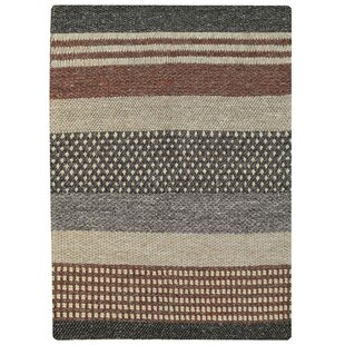 Hertz Hand Knotted Wool Brown Rug by Bakero