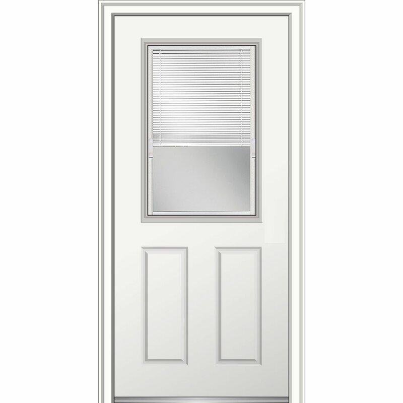 Verona Home Design 15 Lite Fiberglass Smooth 2 Panel Primed Prehung