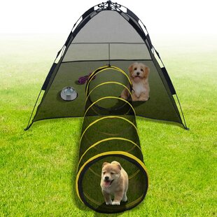 Cat House Outdoor Kitty Compound Tube Enclosure Yard Cage Fun Tent Playpen & Cat Cages u0026 Playpens