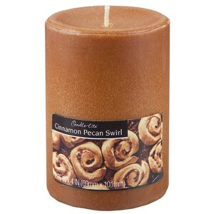 Candle-Lite Cinnamon Pecan Pillar Candle (Set of 2)