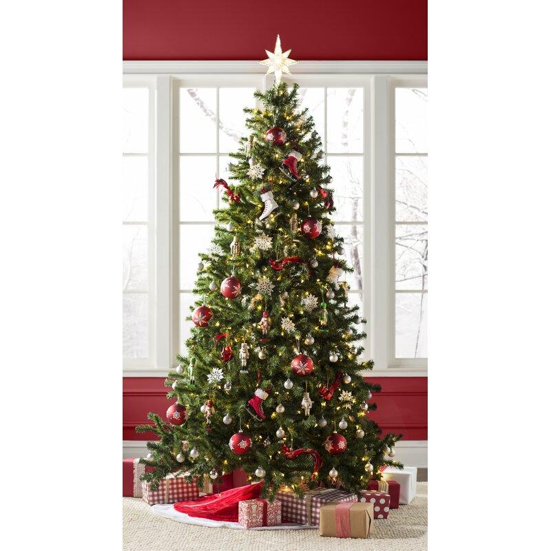 Wayfair Basics Green Fir Artificial Christmas Tree With Clear