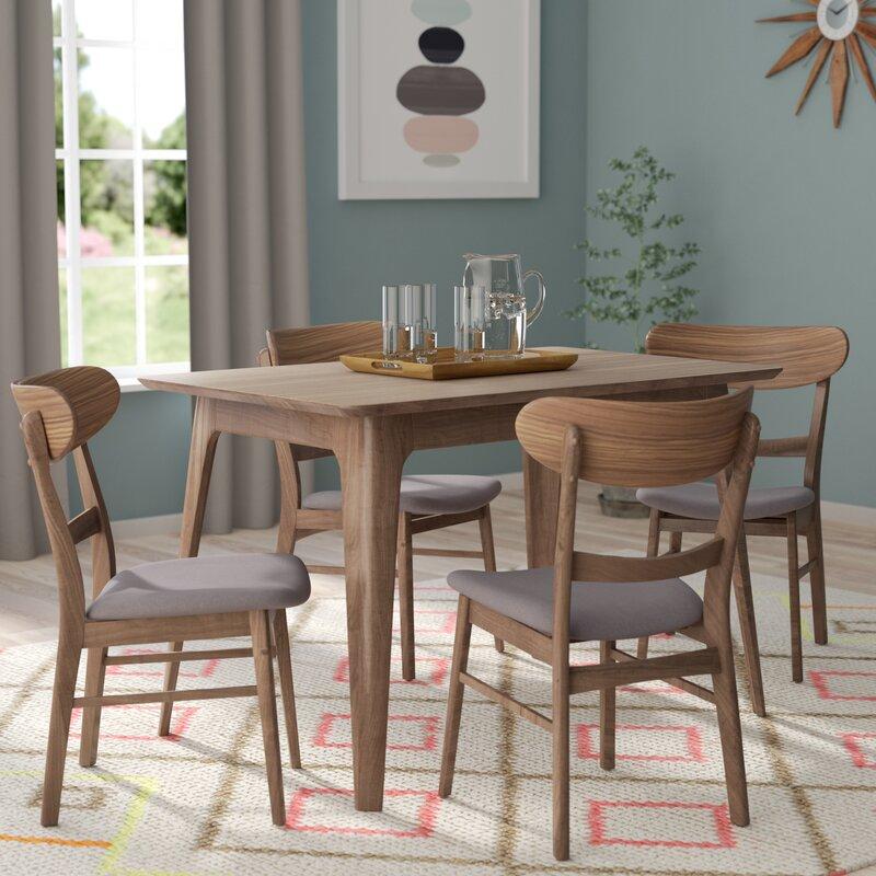 All Wood Dining Sets: Yolanda 5 Piece Wood Dining Set & Reviews