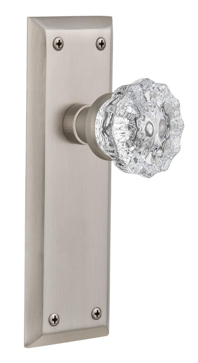Nostalgic Warehouse Crystal Glass Privacy Door Knob with New York ...