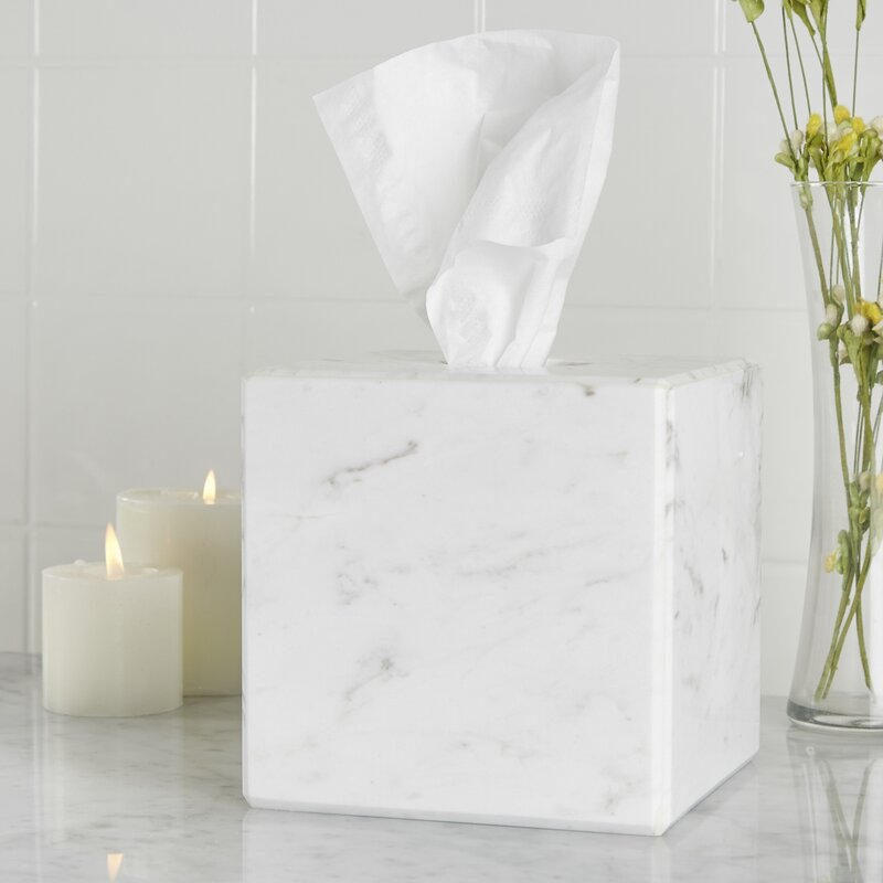 gaston marble tissue box cover