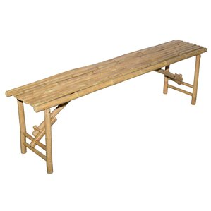 Wood Folding Bench by Bamboo54