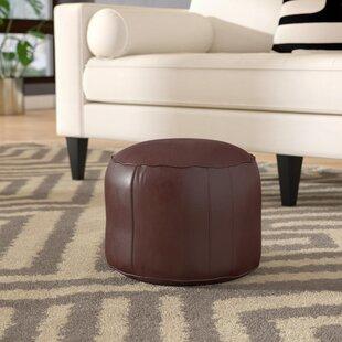 Dark Brown Leather Ottoman Wayfair