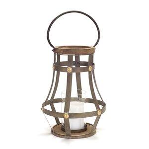 Open Metal/Wood/Glass Lantern
