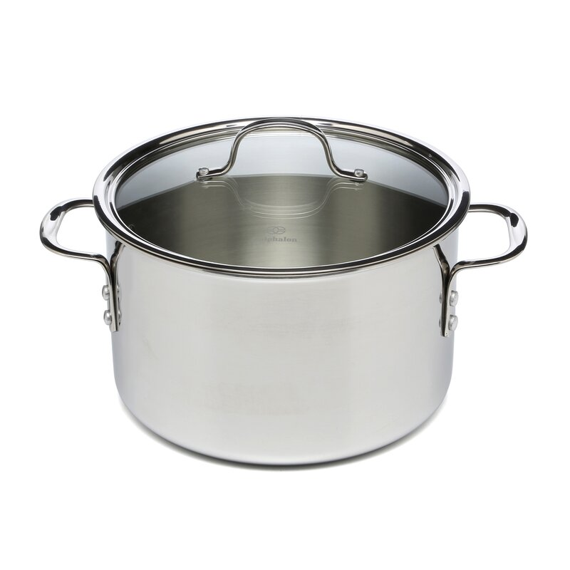 Calphalon Tri Ply Stainless Steel 8 Qt Stock Pot With Lid Reviews