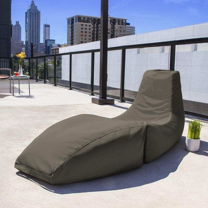 Delightful Prado Outdoor Bean Bag Chaise Lounge Chair