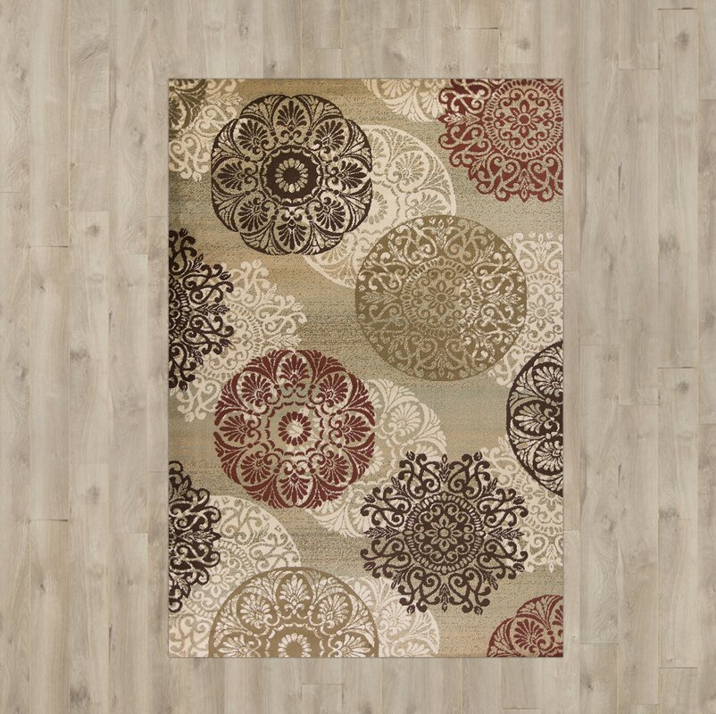 Winterberry Beige Brown Red Area Rug Amp Reviews Birch Lane