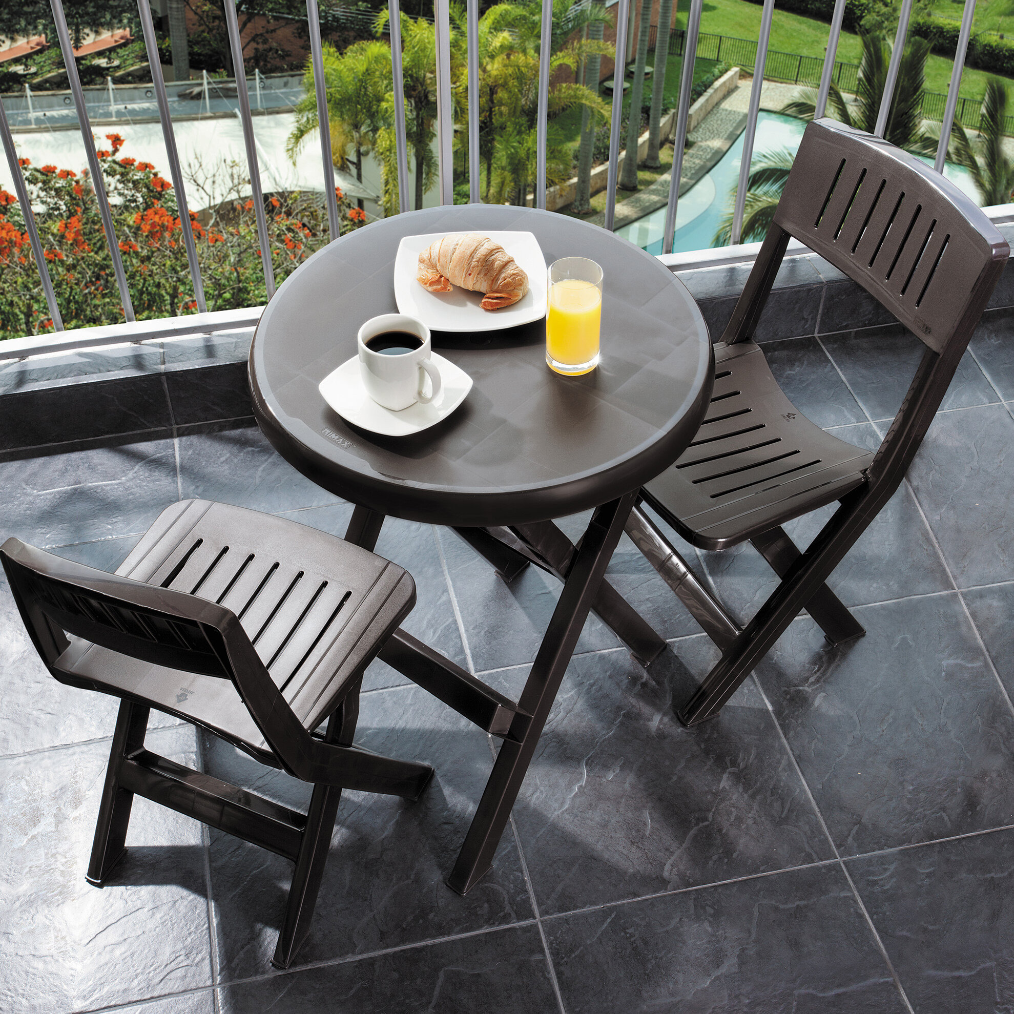 RIMAX Outdoor 3 Piece Bistro Set U0026 Reviews | Wayfair