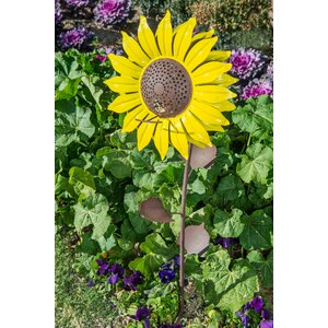 Steel Sunflower Decorative Bird Feeder