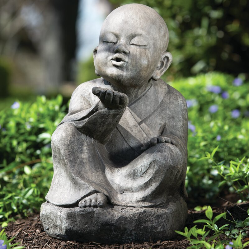 Alfresco Home Wishing Buddha Garden Statue | Wayfair