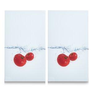 Tomato Splash 2 Piece Glass Cutting Board