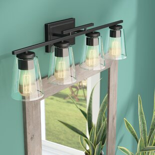 Bon Means 4 Light Bath Bar. By Union Rustic