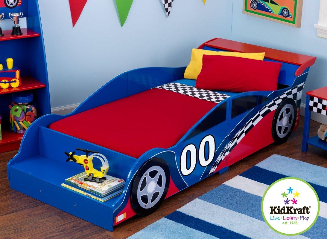 KidKraft Racecar Toddler Car Bed & Reviews | Wayfair