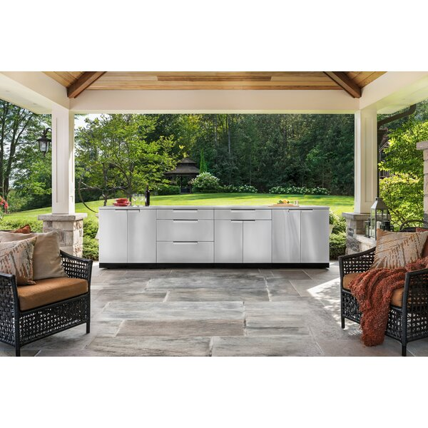 Stainless Steel 5-Piece Modular Outdoor Kitchens