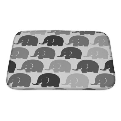 Merveilleux Animals Elephants Bath Rug