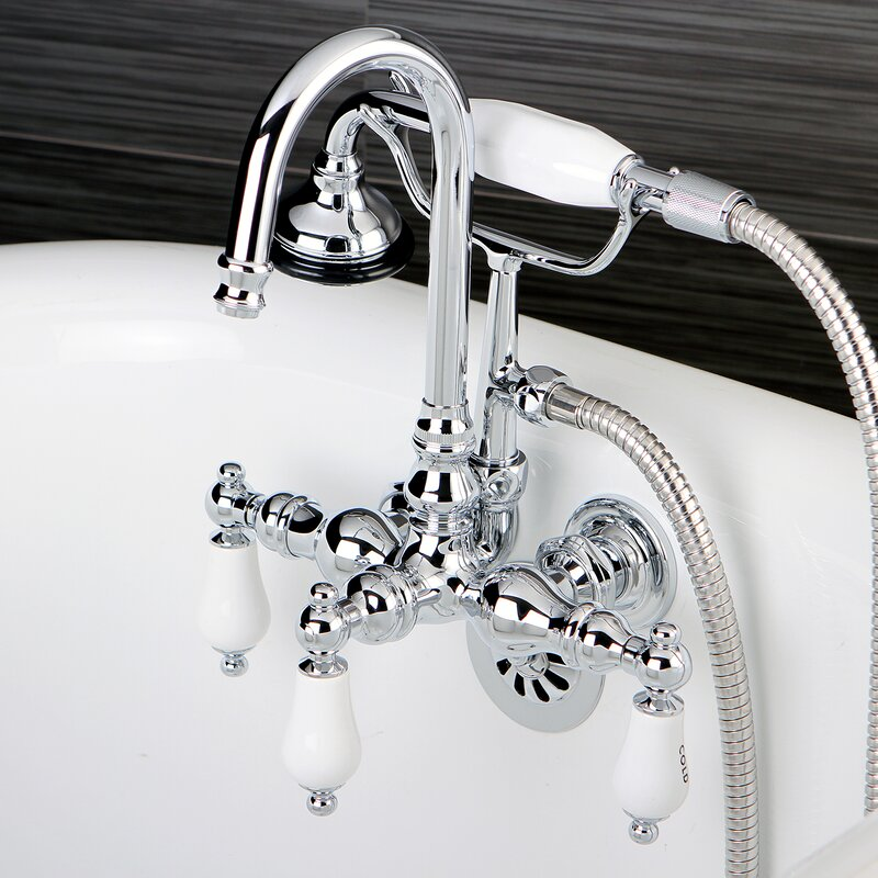 Kingston Brass Vintage Wall Mount Clawfoot Tub Faucet & Reviews ...