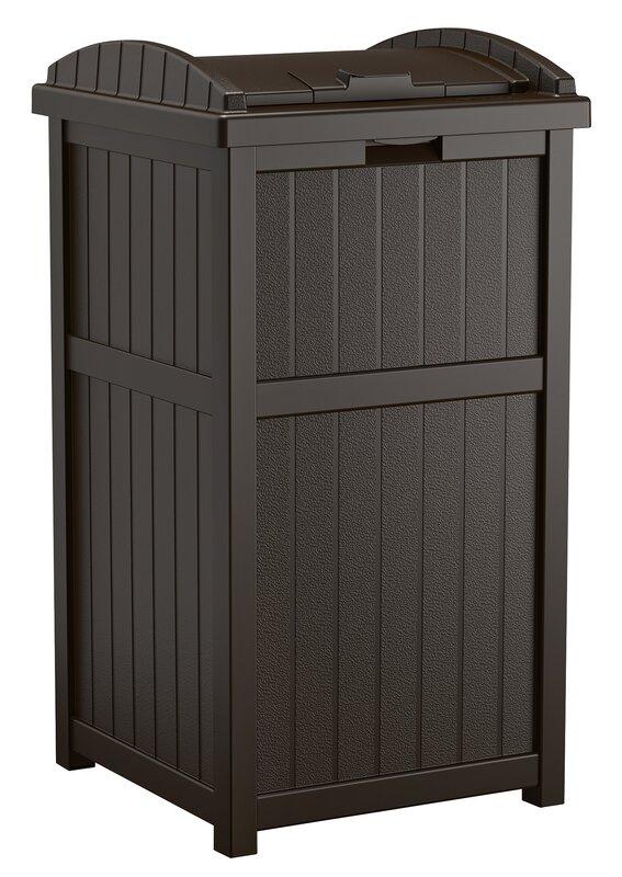 Suncast Gallon Trash Can Reviews Wayfair - Hide away trash bin kitchen