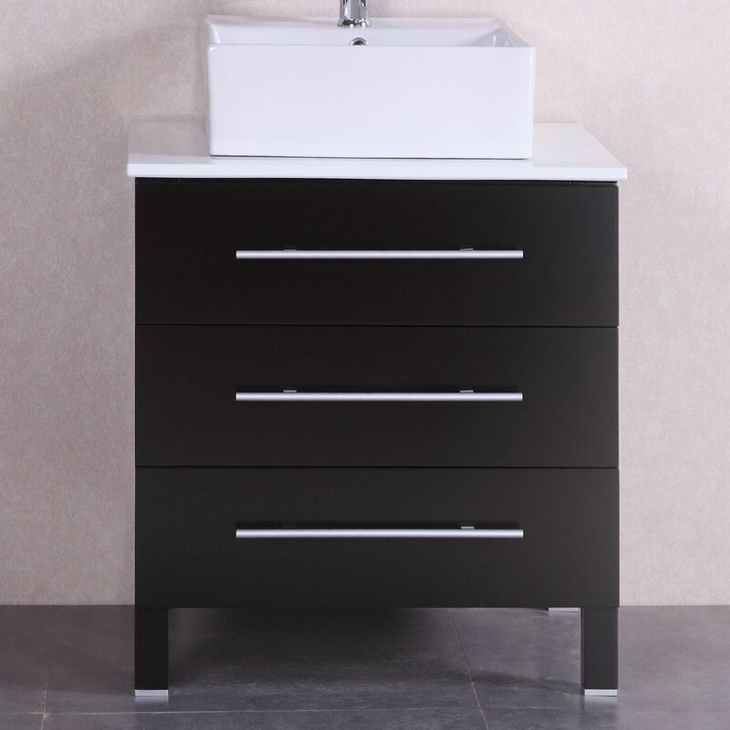 "belvederebath 28"" single modern bathroom vanity set 