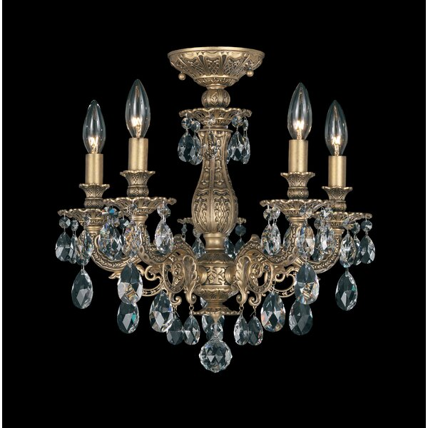 Schonbek milano 5 light candle style chandelier wayfair mozeypictures Gallery