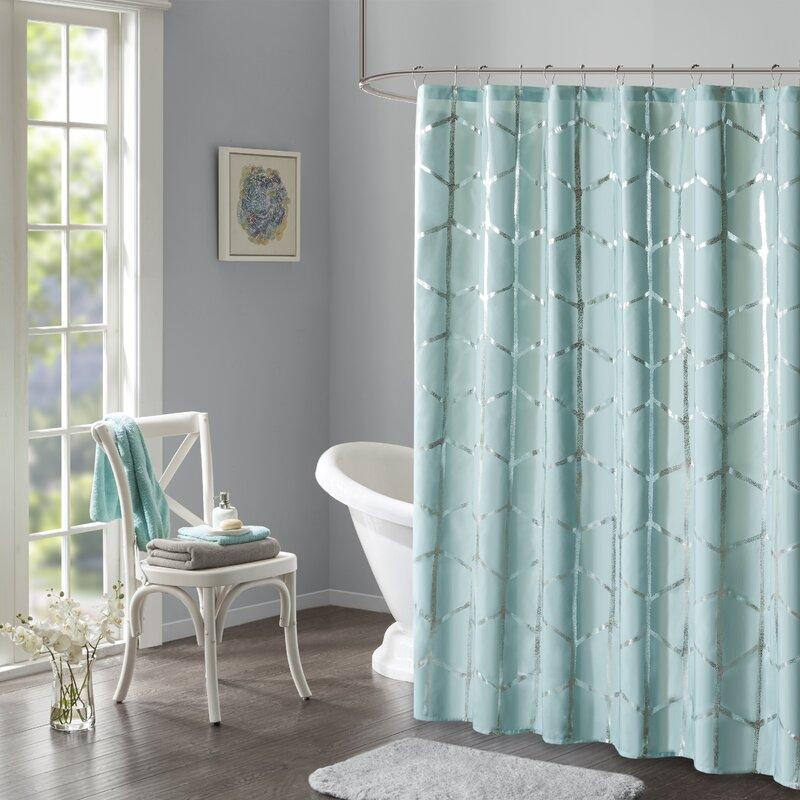 Willa Arlo Interiors Mangesh Printed Metallic Shower Curtain ...