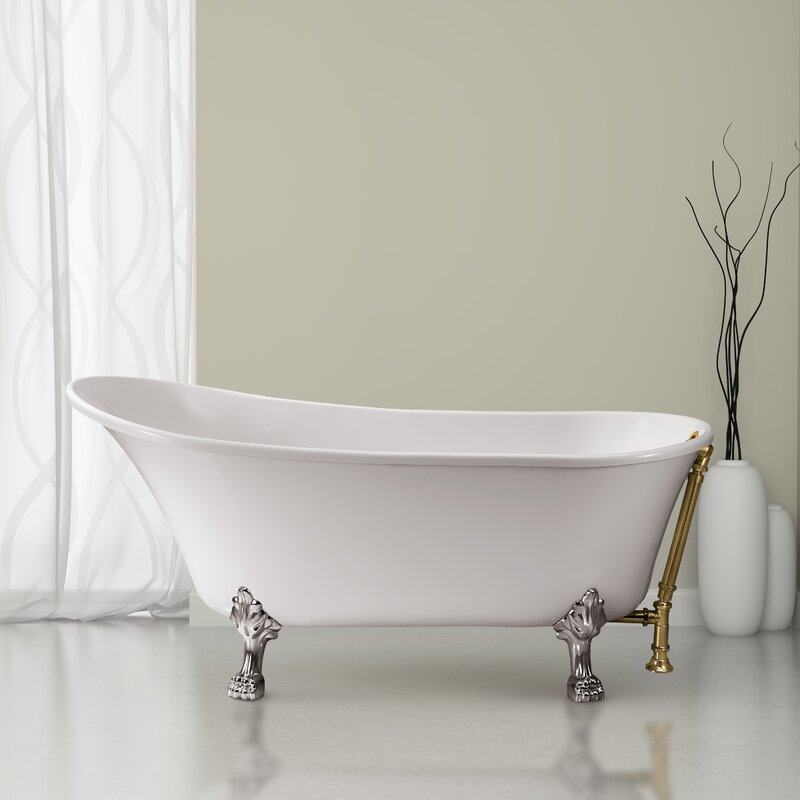 Streamlinebath 60 X 28 Freestanding Soaking Bathtub Wayfair