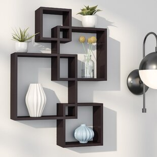 wall mounted cube shelves wayfair rh wayfair com hanging shelves on walls with metal studs shelves on plaster walls