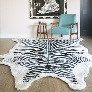 Domesticated Hand-Tufted Black Area Rug