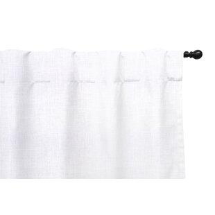 Modern Contemporary 96 Inch White Linen Curtains Allmodern