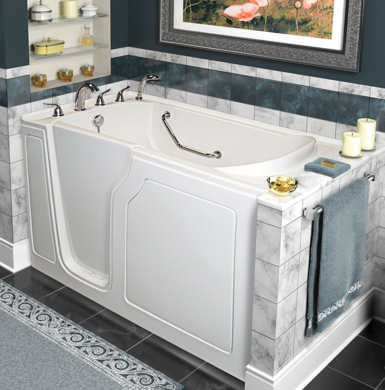 Dignity 48  x 28  Whirlpool and Air Jetted Walk In Bathtub. Walk In Tubs You ll Love   Wayfair