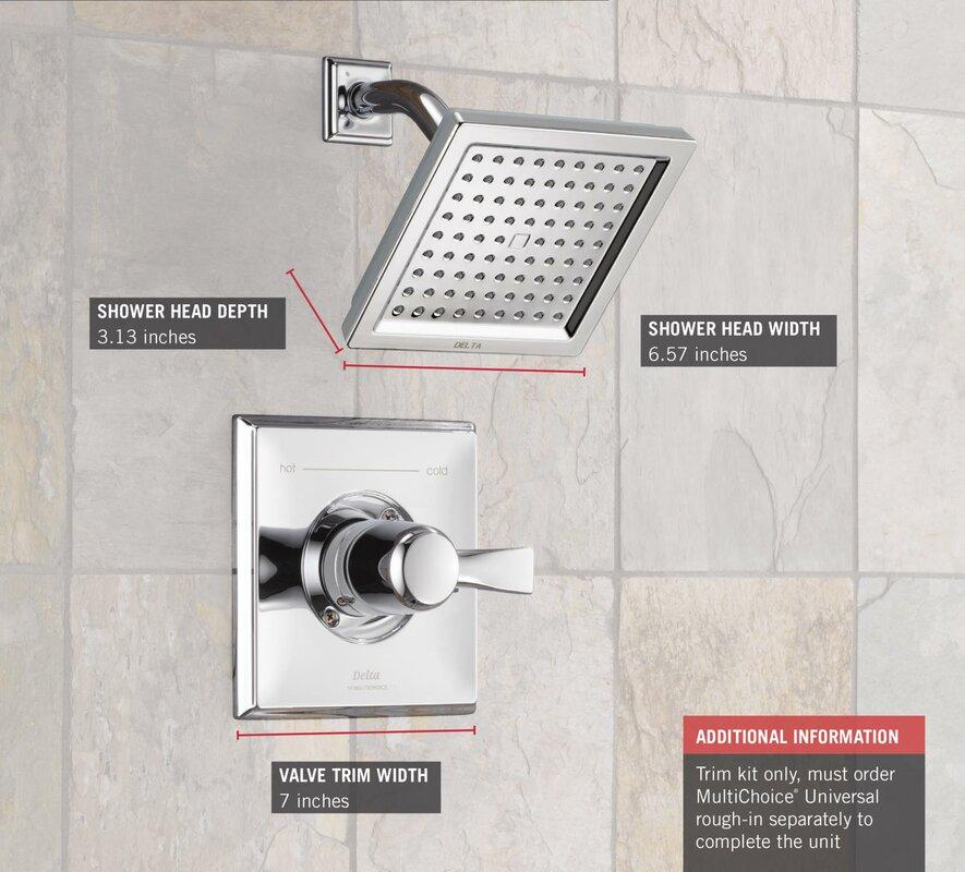 Default nameDelta Dryden Diverter Shower Faucet with Lever Handle   Reviews  . Shower Faucet Conversion Kit. Home Design Ideas